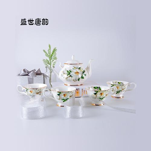 盛世唐韵 骨质瓷咖啡具